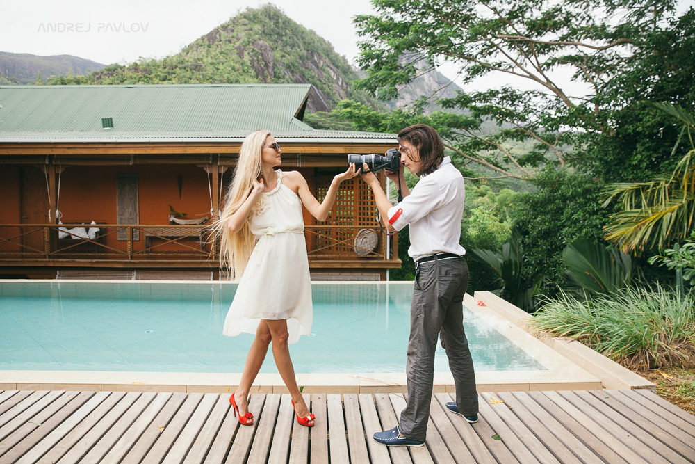 Engagement photo shoot in Seychelles